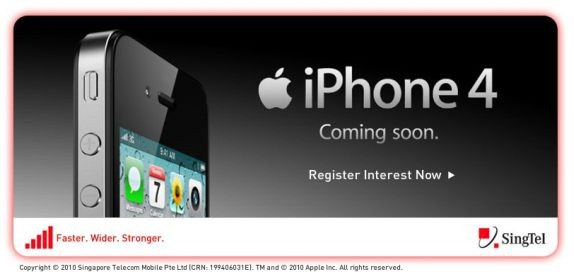 iPhone 4 coming soon to Singtel in Singapore