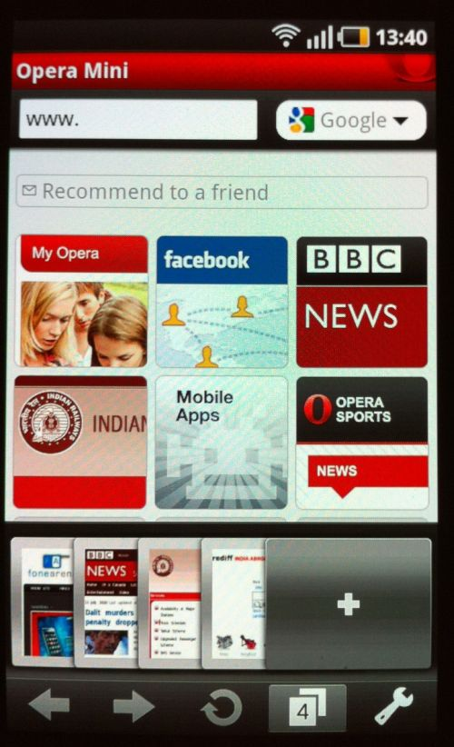 Opera mini old version for android phone