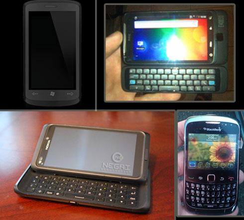 Nokia E7, HTC Gold , Ace , Vision, Samsung i8700 Cetus ...
