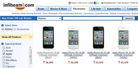 IPhone 4 Available In India On Infibeam Price Revealed Ships Soon