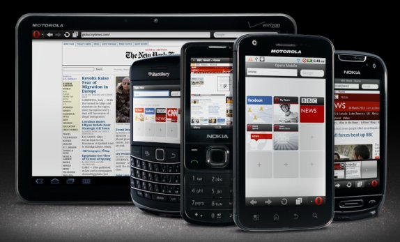 While Opera Mini is meant for less powerful phones , Opera Mobile is