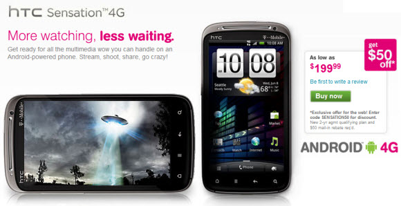 HTC Sensation 4G Now Available At T-Mobile