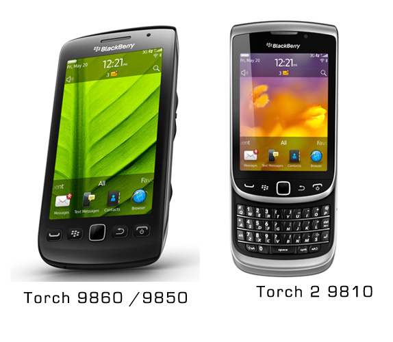 BlackBerry Torch 2 and Storm 3 launched as Torch 9810 and ...