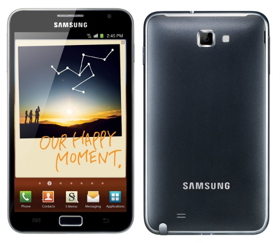 Samsung galaxy note (image via Fonearena)
