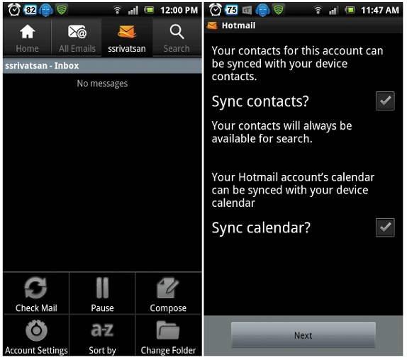 microsoft launches hotmail app for android