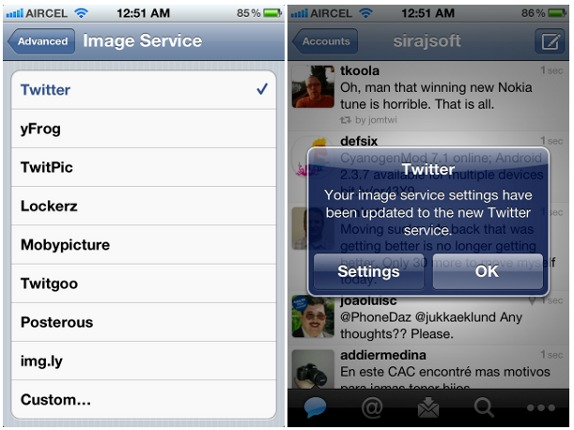 how to change twitter handle iphone