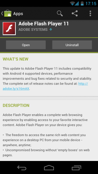 adobe flash player support