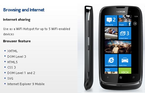 Nokia Lumia 610 to ship with WiFi hotspot functionality