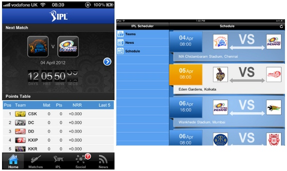 IPL cricket match hot updates in apple devices - iphone and ipad @techrefer