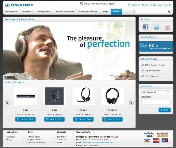 Sennheiser India launches Online Store