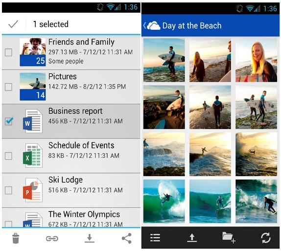 Microsoft launches SkyDrive app for Android