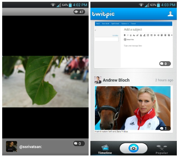 Twitpic photo sharing app now available for Android
