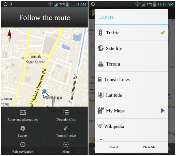 Google maps for android gets voice guided turn by turn navigation google maps for android gets voice guided turn by turn navigation and live traffic in india sciox Image collections