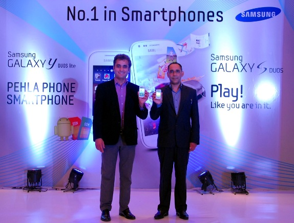 Samsung Galaxy S Duos and Galaxy Y Duos Lite launched in India for Rs