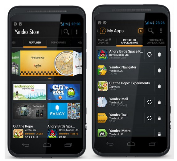 yandex to open its own android app store. Black Bedroom Furniture Sets. Home Design Ideas