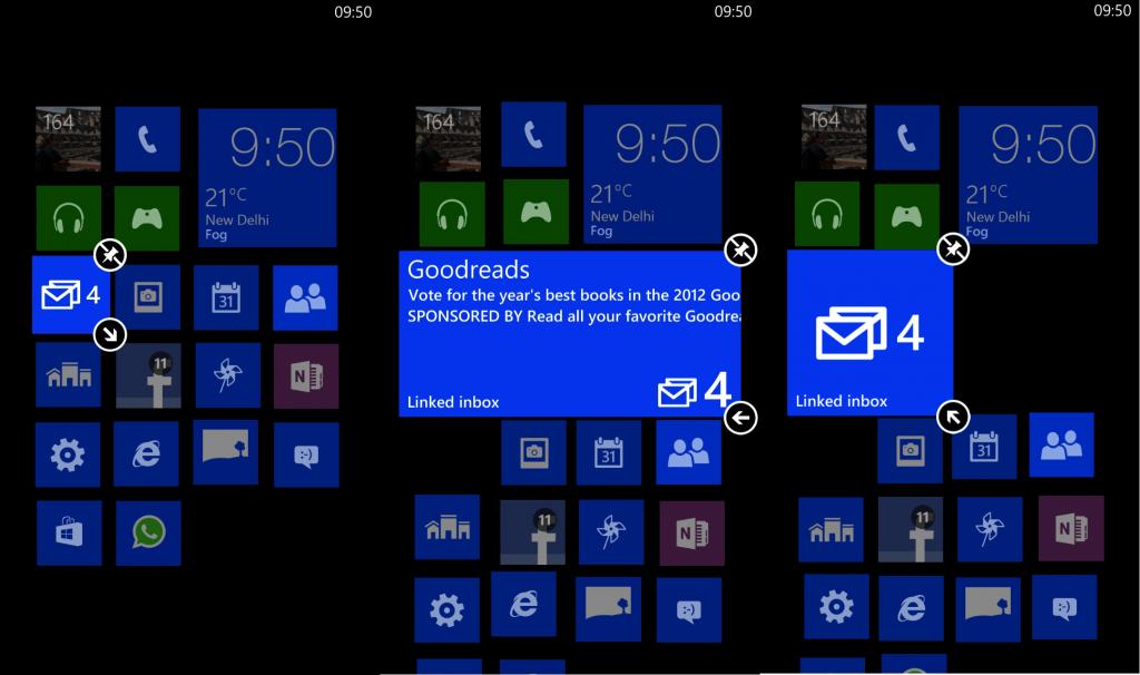 live tiles screenshot wp8