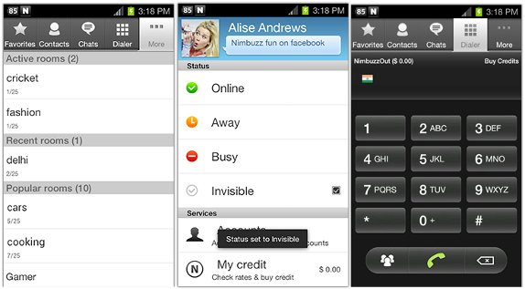 nimbuzz apk for android with chat room
