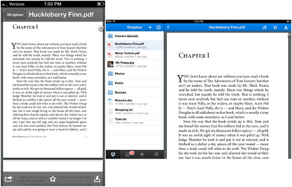 Dropbox for iPhone and iPad v2.1 update brings new PDF viewer
