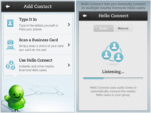 Evernote hello for iphone v20 update brings new ui business card evernote hello for iphone v20 update brings new ui business card scanning and more reheart Images