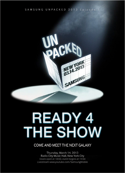 samsung to unveil galaxy s4 on march 14 in new york confirms jk shin jk shin confirms march 14th galaxy s iv 431x599