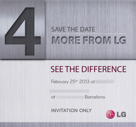 LG sends out invites for MWC 2013 Media Preview