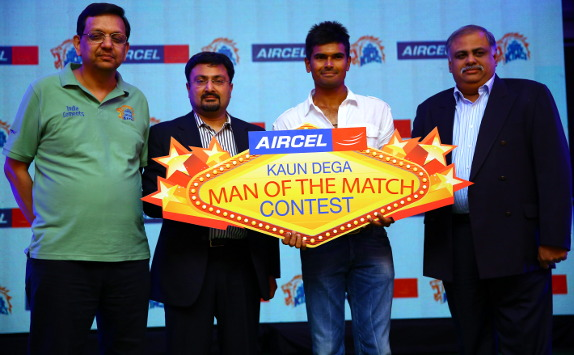 Aircel CSK Kaun Dega Man of the Match Contest launch