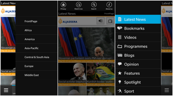 Al Jazeera English for BlackBerry 10