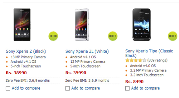 sony xperia u price list 2013. sony xperia z and zl pre-order prices revealed in india, shipping march 3rd week xperia u price list 2013