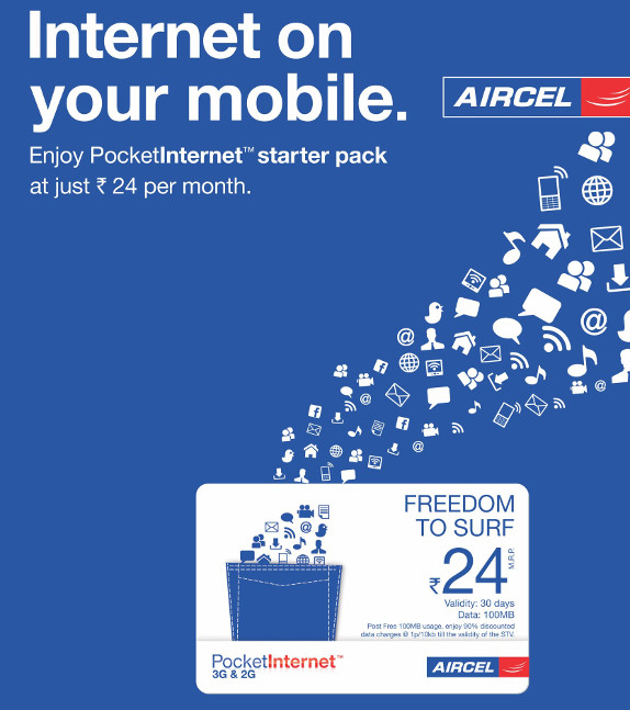 Aircel Pocket Internet 24