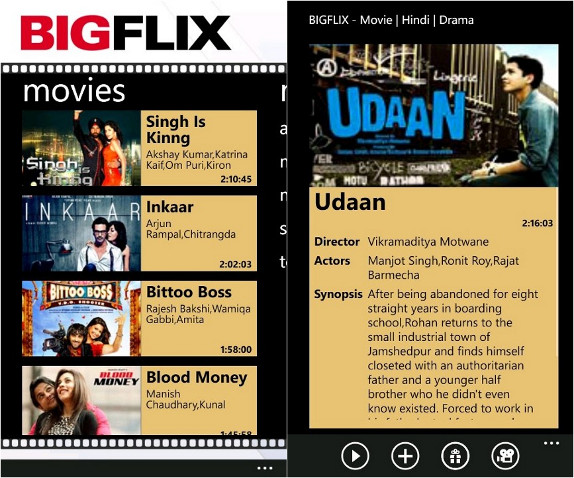 BigFlix for Windows Phone