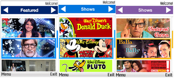 Disney UTV Digital Nokia Apps