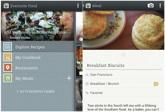 Evernote Food 2.0 for Android