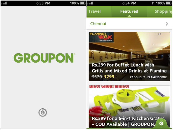 Groupon for iPhone India