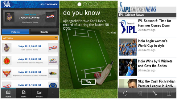 IPL apps for BlackBerry 10