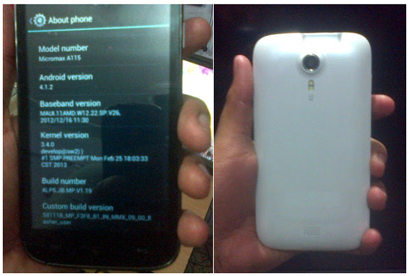 Micromax A115-Canvas 3D Leak