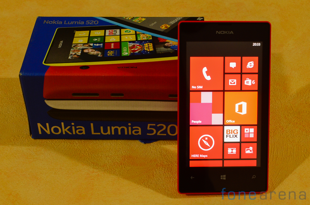 The packaging of the Lumia 520 is very similar to that of other