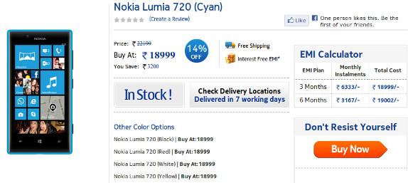 Nokia Lumia 720 NokiaShop