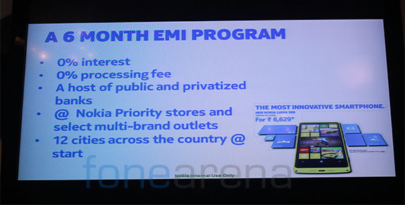 Nokia Lumia EMI India