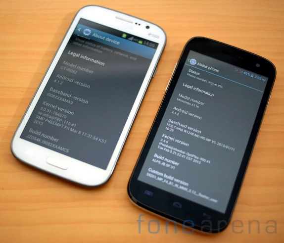 Samsung Galaxy Grand Duos vs Micromax Canvas HD-15
