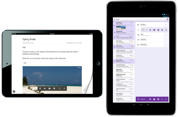 Yahoo Mail for iPad and Android Tablets