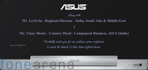 Asus Transformer AiO launch Invite