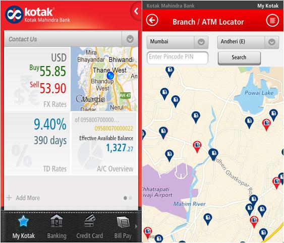 mobile kotak net banking