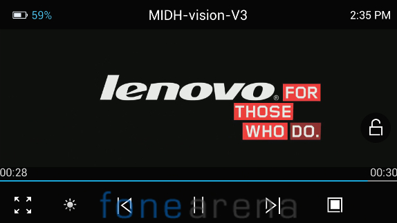 Lenovo P770 Video Player