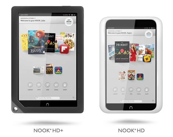 Nook HD Plus and HD