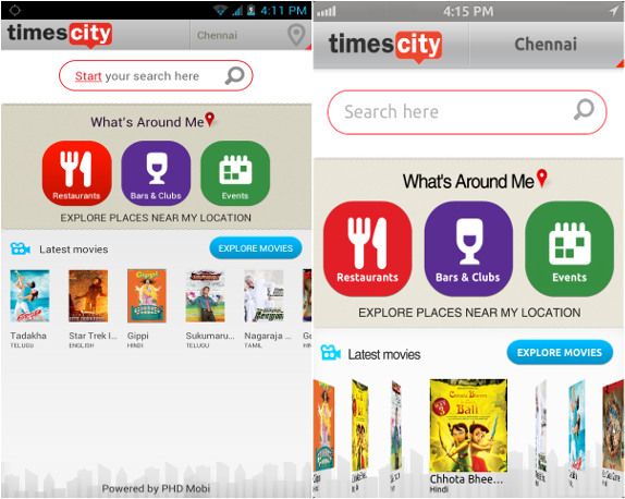 Timescity for Android and iPhone