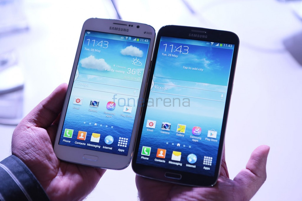 Samsung Galaxy Mega 5.8 vs Galaxy Mega 6.3 hands on comparison