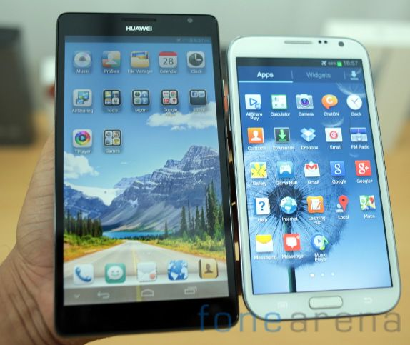 Note I717 vs Note 2 The Galaxy Note 2 Has a 1.6