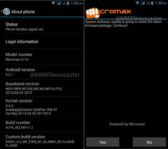 Micromax A116 Android 4.2