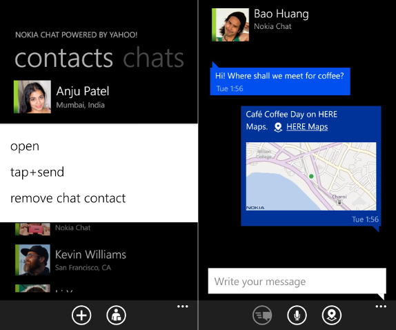 Nokia Chat 1.1 Beta for Lumia