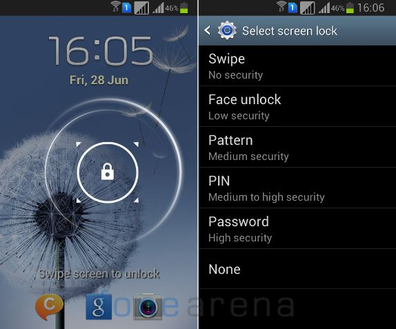 Samsung Galaxy Grand Quattro Lock Screen